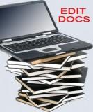 EDIT-DOCS  ... Professional Editing / Publishing